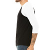 Adultish - Unisex  Long-Sleeve Raglan Black with White Sleeves