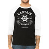 Captain of The Drunks #drunklivesmatter - Unisex  Long-Sleeve Raglan Black with White Sleeves
