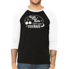 Grab Your Balls We're Goin Bowling - Unisex  Long-Sleeve Raglan Black with White Sleeves