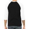 Hustle - Unisex  Long-Sleeve Raglan Black with White Sleeves