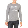 I Just Wanna Drink Beer and Pet My Dog - Unisex Jersey Long-Sleeve T-Shirt (more color choices)