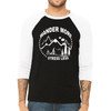 Wander More Stress Less - Unisex  Long-Sleeve Raglan Black with White Sleeves