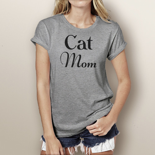 Cat Mom (Simple) - Short Sleeve T-Shirt