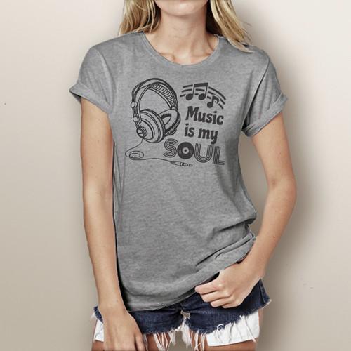 Music Is My Soul - Short Sleeve T-Shirt
