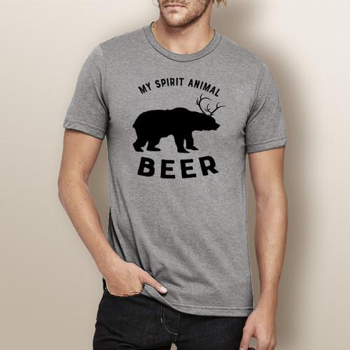 My Spirit Animal Beer - Short Sleeve T-Shirt