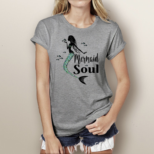 Mermaid Soul (with Mermaid)- Short Sleeve T-Shirt