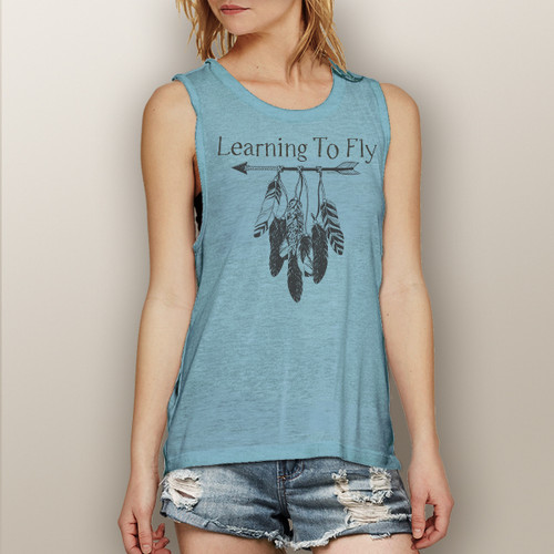 Learning to Fly - Muscle Tank (more color choices)