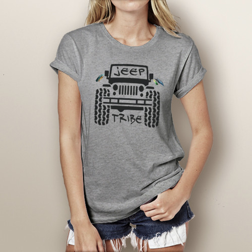 Jeep Tribe (with jeep) - Short Sleeve T-Shirt
