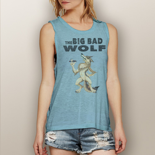 The Big Bad Wolf- Muscle Tank (more color choices)