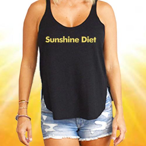 Sunshine Diet - Flowy Slit Tank