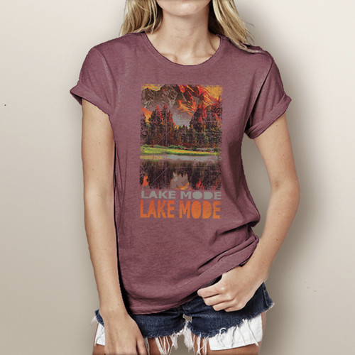 Lake Mode - Woman's Short Sleeve T-Shirt (more color choices)