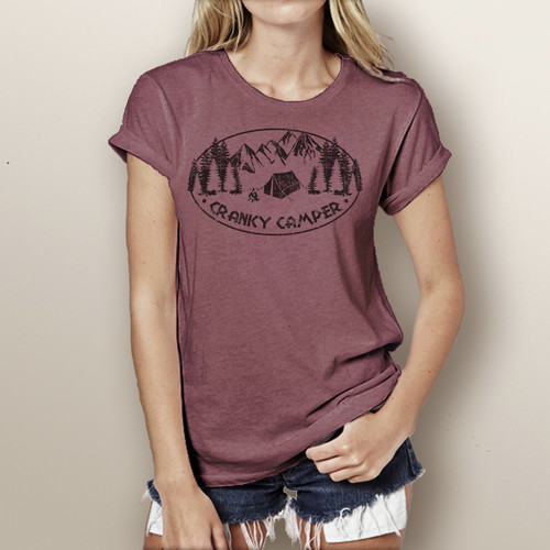 Cranky Camper - Woman's Short Sleeve T-Shirt (more color choices)