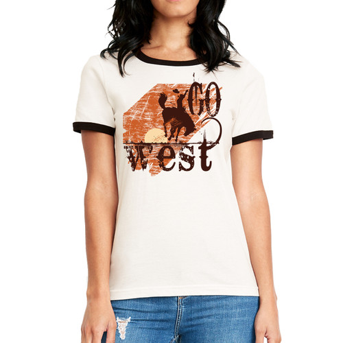 Go West - Woman's Ringer Tee
