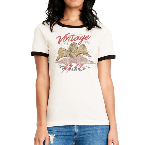 Vintage Made in America - Woman's Ringer Tee