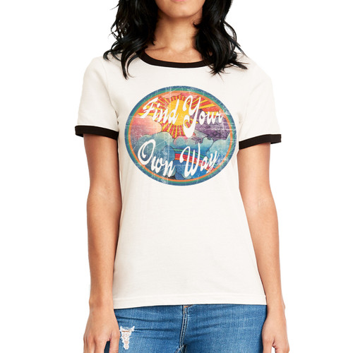 Find Your Own Way - Woman's Ringer Tee