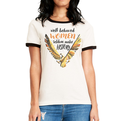Well Behaved Women Retro - Woman's Ringer Tee