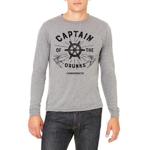 Captain of the Drunks #drunklivesmatter - Unisex Jersey Long-Sleeve T-Shirt (more color choices)