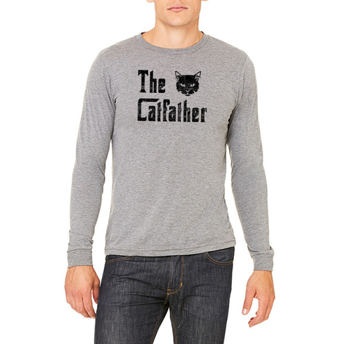 The Catfather - Unisex Jersey Long-Sleeve T-Shirt (more color choices)