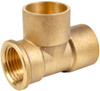 """22mm x 1/2"""" x 22mm Threaded End Tees - End Feed"""