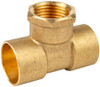 """22mm x 22mm x 1/2"""" Threaded Centre Tees - End Feed"""