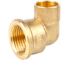 """15mm x 1/2"""" End Feed to Female Iron Elbow"""