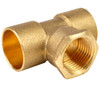 """22mm x 22mm x 3/4"""" Threaded Centre Tees - End Feed"""