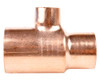 28mm x 22mm x 15mm Reducing Tee - End Feed