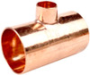 28mm x 28mm x 15mm Reducing Tee - End Feed