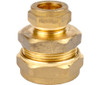 28mm x 15mm Brass Compression Reducing Coupling