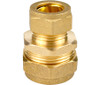 15mm x 10mm Brass Compression Reducing Coupling