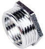 "3/4"" x 1/2"" Chrome Hexagon Threaded Bush"