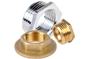 Brass Threaded Bushes & Backnuts