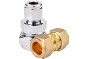 Brass & Chrome Compression Couplings