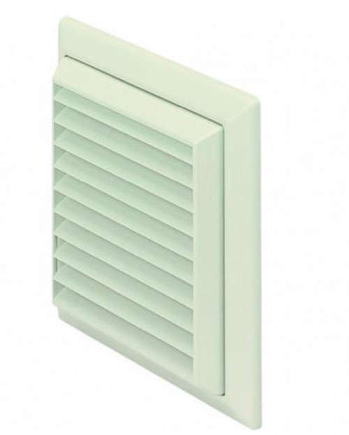 White Grill & Flyscreen for 100mm Round Duct