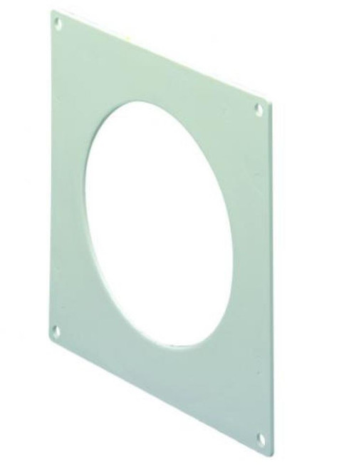 White Wallplate for 100mm Round Duct