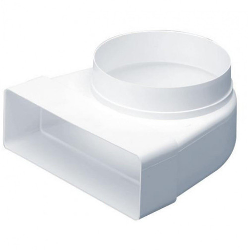 Rectangular (110mm x 54mm) to Round (100mm) Duct Socket