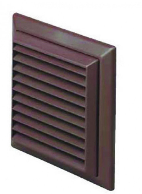 Brown Grill & Flyscreen for 100mm Round Duct