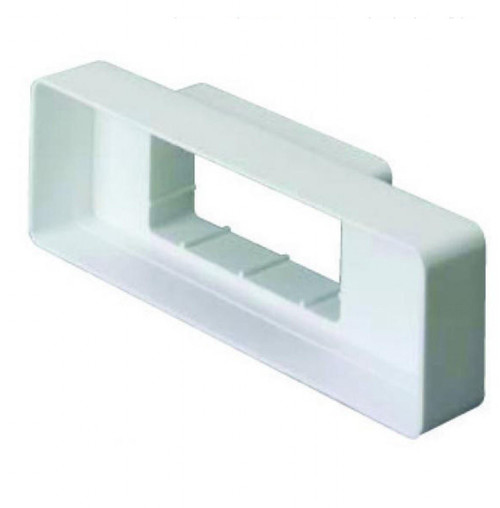 110mm x 54mm Flat Duct Channel to Airbrick Adapter - White
