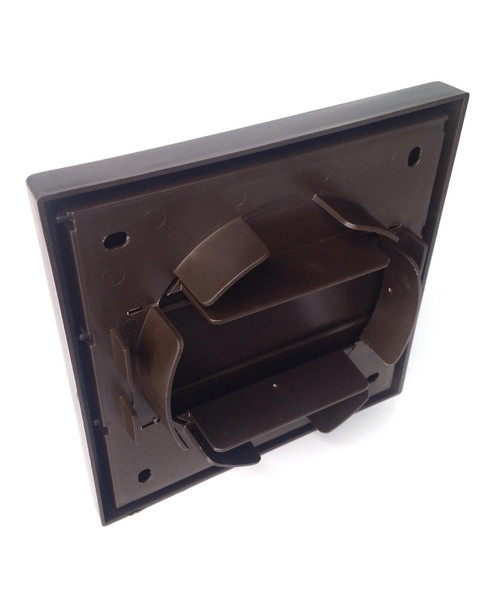 Brown Wall Vent with gravity flaps for 100mm (4 Inch) ducting