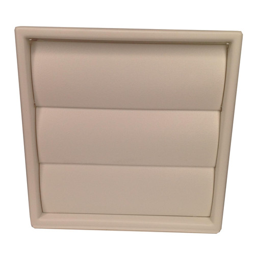 White Wall Vent with gravity flaps for 100mm (4 Inch) ducting