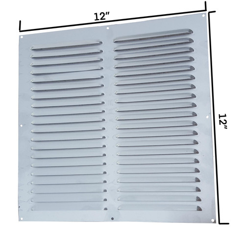 "Surface Mounted 12"" x 12"" Aluminium Louvre Vent- BM365"