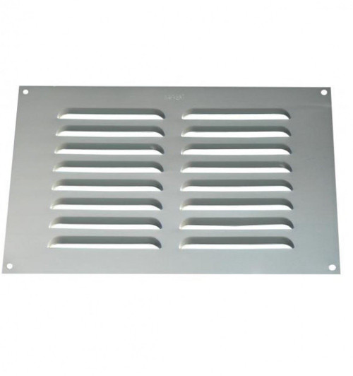 "Surface Mounted 12"" x 9"" Aluminium Louvre Vent- BM364"