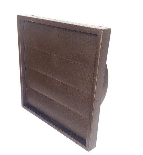 Brown Wall Vent with gravity flaps for 150mm (6 Inch) ducting
