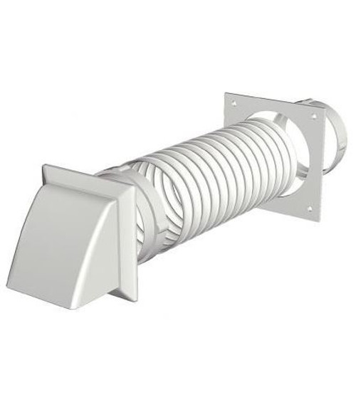 Cooker hood kit 100mm x 1m white