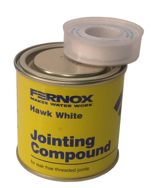 400g FERNOX Hawk White Jointing Compound & PTFE Tape
