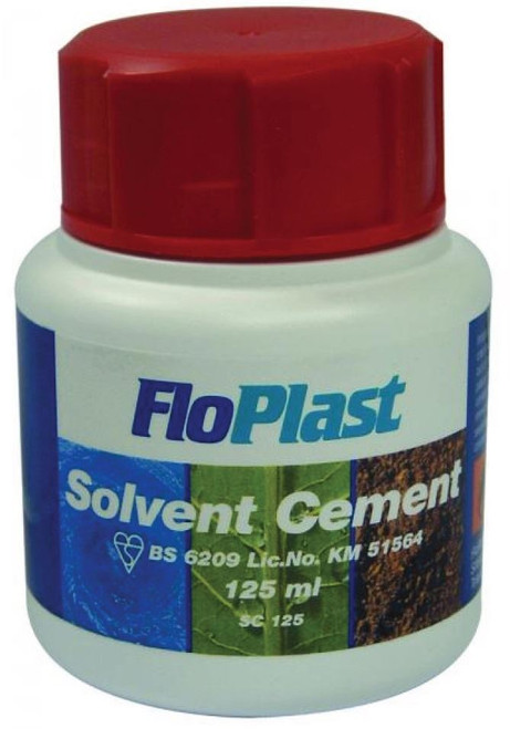 125ml FLOPLAST Solvent Cement BS6209