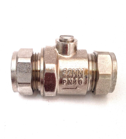 22mm Full Bore Chrome Isolation Valve