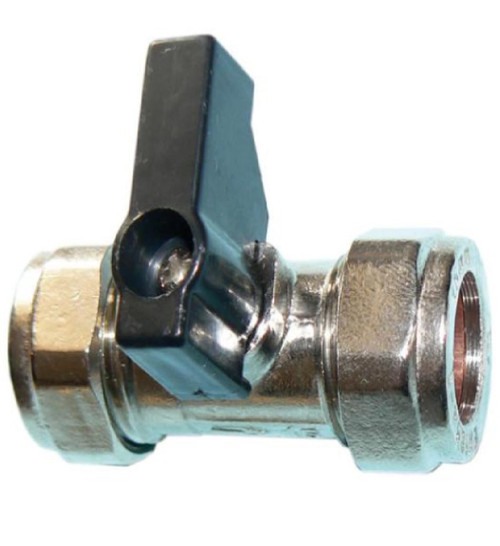 15mm Lever Operated Chrome Isolation Valve CxC