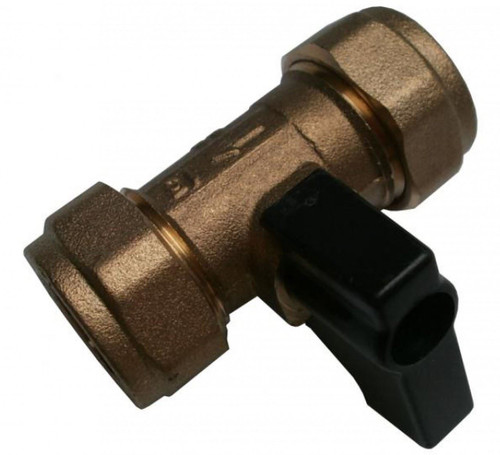 Lever Operated 15mm Brass Economy Isolating Valve