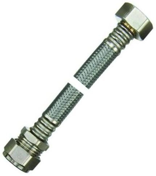 """22mm x 3/4"""" Flexible Tap Connector- 300mm WRAS Approved"""